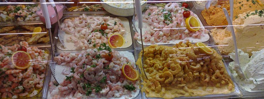 Fischspezialitäten der mediterranen Küche